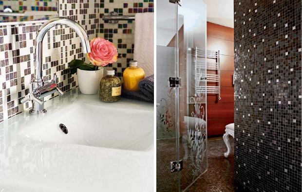 Phòng tắm sử dụng đá mosaic