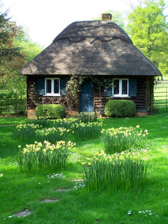 Nhà quê có thảm cỏ