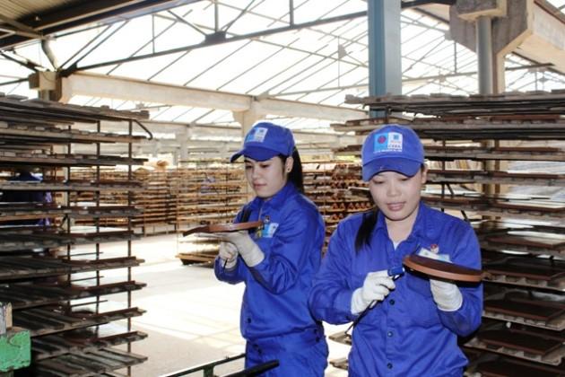 Công nhân nhà máy  gạch ngói Tiêu Giao - Viglacera Hạ Long