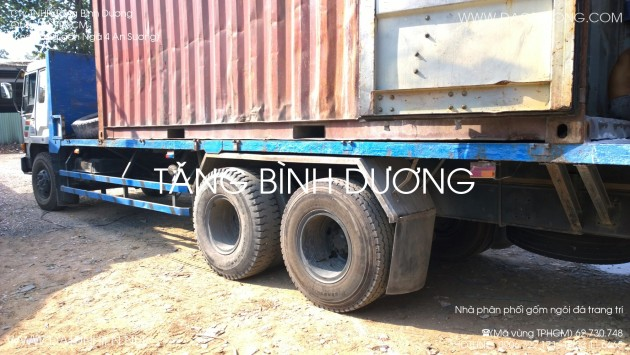 Xe container bỏ đá trang trí Nghệ An