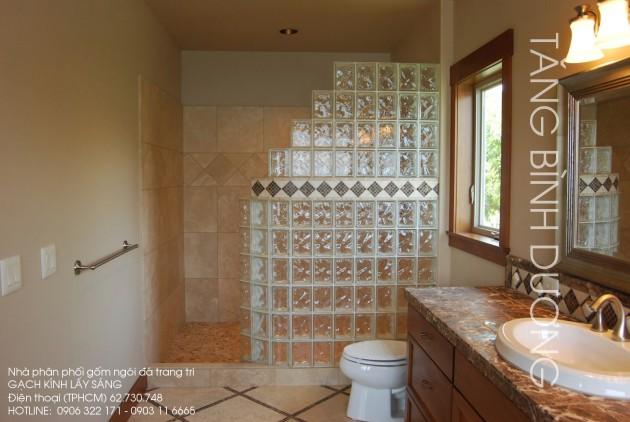Gạch kính sử dụng tại nhà tắm